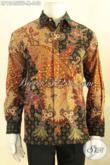 Kemeja Batik Tulis Lengan Panjang Mewah Pakai Furing, Baju Batik Acara Resmi Desain Elegan Berkelas Khas Jawa Tengah Menunjang Penampilan Gagah Berwibawa [LP12455TF-M]