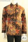 Baju Batik Istimewa Khas Pejabat, Kemeja Batik Tulis Premium Motif Mewah Jenis Tulis Daleman Full Furing, Penampilan Lebih Tampan Dan Berkelas [LP12457TF-M]