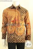 Jual Kemeja Batik Premium Jenis Tulis, Busana Batik Pria Nan Istimewa Model Lengan Panjang Daleman Full Furing, Pilihan Terbaik Untuk Tampil Sempurna [LP12458TF-M]