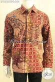Kemeja Batik Mewah Khas Solo, Busana Batik Premium Lengan Panjang Full Furing Kesukaan Pajabat Dan Eksekutif Jenis Tulis Motif Elegan [LP12461TF-L]
