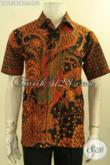 Model Baju Batik Trendy Pria Lengan Pendek Motif Elegan Proses Kombinasi Tulis, Busana Batik Istimewa Untuk Kerja Maupun Ke Kondangan Hanya 100 Ribuan Saja [LD12590BT-S]
