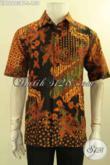Toko Busana Batik Online Paling Lengkap, Sedia Kemeja Lengan Pendek Batik Kombinasi Tulis Untuk Pria Desain Terkini Motif Elegan Kwalitas Bagus Harga Terjangkau [LD12603BT-L]