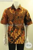 Koleksi Terbaru Busana Batik Pria Kwalitas Bagus Harga Murah, Kemeja Batik Lelaki Dewasa Buatan Solo Motif Elegan Kombinasi Tulis, Pas Untuk Kerja [LD12614BT-XL]