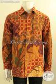 Kemeja Batik Premium Untuk Kerja Kantoran, Busana Batik Mewah Halus Lengan Panjang Full Furing Hanya 600 Ribuan [LP12555TF-L]