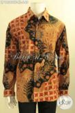 Baju Batik Pria Lengan Panjang Tulis Asli, Kemeja Batik Mewah Pakai Furing Desain Terbaru Motif Kekinian Hanya 600 Ribuan [LP12560TF-XL]