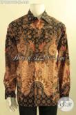 Jual Kemeja Batik Solo Mewah Masa Kini, Produk Baju Batik Pria Lengan Panjang Jenis Tulis Daleman Full Furing, Cocok Untuk Acara Resmi [LP12561TF-XL]
