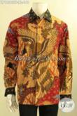 Jual Kemeja Batik Solo Premium Lengan Panjang Khas Eksekutif, Baju Batik Istimewa Daleman Full Furing Yang Membuat Pria Terlihat Gagah Berwibawa [LP12562TF-XL]