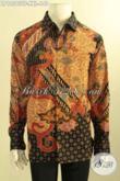 Baju Batik Lengan Panjang Big Size Spesial Untuk Pria Gemuk, Kemeja Batik Premium Dengan Lapisan Furing Nan Mewah Penampilan Lebih Sempurna [LP12563TF-XXL]