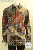 Busana Batik Pria Gemuk Nan Istimewa, Kemeja Batik Premium Lengan Panjang Motif Terbaru Jenis Tulis Daleman Full Furing Hanya 640K [LP12564TF-XXL]