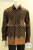 Jual Kemeja Batik Pria Lengan Panjang Nan Istimewa Daleman Full Furing, Produk Baju Batik Solo Kwalitas Bagus Hadir Dengan Harga Terjangkau [LP12569CTF-XL]