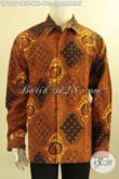 Kemeja Batik Formal Model Lengan Panjang Istimewa Daleman Full Furing, Baju Batik Solo Pria Gemuk Motif Sidodrajat Cocok Untuk Kondangan Dan Rapat [LP12574BTF-XXL]