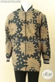 Jaket Gaul Model Bomber Kwalitas Bagus Bahan Batik Solo Motif Klasik, Jaket Kekinian Untuk Pria Muda Dan Dewasa Desain Mewah Full Furing Dormeuil Yang Biasa Di Pakai Untuk Jas Hanya 200 Ribuan Saja [JT12644PBF-L]