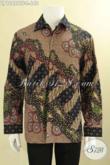 Kemeja Batik Istimewa Model Lengan Panjang Khas Jawa Tengah, Baju Batik Tulis Premium Pakai Furing Motif Terkini, Cocok Untuk Kondangan Tampil Berwibawa [LP12686TF-L]