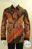 Baju Batik Tulis Lengan Panjang Mewah Kwalitas Halus Motif Elegan Jenis Tulis, Busana Batik Pria Sukses Daleman Full Furing Bikin Penampilan Lebih Sempurna [LP12692TF-L]