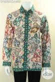 Kemeja Batik Halus Motif Bagus Jenis Print Malam, Kemeja Batik Solo Lengan Panjang Pakai Furing Hanya 300 Ribuan [LP12726PM-L]