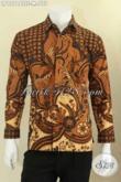 Kemeja Batik Tulis Pria Lengan Panjang Pakai Furing, Busana Batik Mewah Khas Pejabat Motif Elegan Asli Buatan Solo, Cocok Untuk Acara Resmi [LP12744TSF-M]