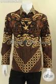 Produk Busana Batik Pria Terbaru Lengan Panjang Mewah Pakai Furing, Kemeja Batik Solo Jenis Tulis Motif Elegan Yang Menunjang Penampilan Lebih Gagah Dan Berwibawa [LP12752TSF-XL]