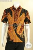 Baju Batik Kerja Pria Lengan Pendek Motif Bagus Proses Tulis, Kemeja Batik Solo Yang Menunjang Penampilan Lebih Gagah Dan Berkelas [LD12815TF-M]