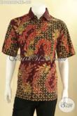 Kemeja Batik Modis Kwalitas Premium Bahan Halus Jenis Tulis Nyaman Di Pakai, Baju Batik Pria Gemuk Nan Berkelas Cocok Untuk Kondangan Dan Acara Resmi [LD12828TF-XXL]