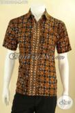 Produk Baju Batik Pria Terkini Motif Elegan Jenis Cap Tulis Bahan Halus Yang Nyaman Di Pakai, Kemeja Batik Lengan Pendek Keren Cocok Untuk Seragam Kerja Kantoran [LD12829CT-M]