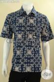 Baju Batik Cowok Keren Model Lengan Pendek Motif Kekinian, Busana Batik Istimewa Motif Modern Bahan Halus Yang Nyaman Di Pakai, Penampilan Lebih Gaul Dan Stylish [LD12850C-XL]