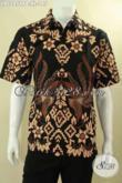 Kemeja Batik Pria Berkwalitas Istimewa Model Lengan Pendek Motif Bagus Khas Jawa Tengah, Baju Batik Untuk Kerja Maupun Acara Resmi Hanya 100 Ribuan [LD12859PB-XL]