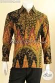 Kemeja Batik Premium Khas Pejabat, Baju Batik Tulis Model Lengan Panjang Mewah Pakai Furing, Cocok Banget Untuk Acara Resmi [LP12797TF-M]