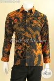 Jual Kemeja Batik Premium Khas Solo Jawa Tengah, Baju Batik Istimewa Jenis Tulis Model Lengan Panjang Full Furing, Pilihan Tepat Untuk Tampil Lebih Sempurna [LP12800TF-M]
