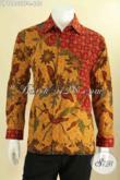 Produk Terbaru Kemeja Batik Pria Lengan Panjang Mewah Jenis Tulis, Baju Batik Solo Istimewa Daleman Pakai Furing, Bikin Penampilan Terlihat Gagah Dan Percaya Diri [LP12802TF-L]