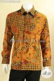 Kemeja Batik Tulis Premium Full Furing, Baju Batik Solo Mewah Lengan Panjang Motif Elegan Tren Masa Kini Bahan Halus Nyaman Di Pakai [LP12810TF-XL]