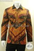 Produk Terbaru Busana Batik Pria Lengan Panjang Tulis Pakai Furing, Kemeja Batik Solo Asli Motif Bagus Istimewa Untuk Kerja Dan Acara Resmi [LP12910TF-XL]