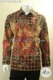 Jual Baju Batik Exclusive, Kemeja Batik Pria Lengan Panjang Jenis Tulis Daleman Full Furing Desain Mewah Motif Terbaru, Cocok Untuk Pejabat Dan Eksekutif [LP12918TF-XXL]