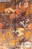 Kain Batik Pria Motif Elegan Jenis Print Cabut, Batik Solo Asli Kwalitas Istimewa Bahan Busana Wanita Pria Hanya 100 Ribuan [K3656PB-240x110cm]