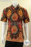 Produk Baju Batik Desain Terkini Yang Bikin Pria Terlihat Gagah Dan Tampan, Kemeja Lengan Pendek Motif Bagus Dan Berkelas Jenis Print Hanya 100K [LD12955P-L]