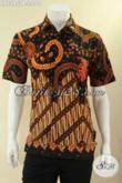 Baju Batik Motif Klasik Nan Elegan Model Lengan Pendek, Kemeja Batik Pria Terbaru Untuk Acara Resmi Dan Kondangan Bahan Halus Nyaman Di Pakai [LD12957P-L]