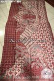 Kain Batik Solo Halus Motif Bagus Bahan Busana Kelas Premium Wanita Pria Sukses, Batik Tulis Sutra Mewah Menunjang Penampilan Lebih Berkelas [K3670SUWT-240x105cm]