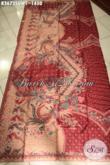 Kain Batik Solo Terbaru Kwalitas Premium Bahan Busana Wanita Pria, Batik Mewah Tulis Sutra Twis Cocok Untuk Busana Kerja Dan Acara Formal Nan Berkelas [K3673SUWT-240x105cm]