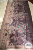 Kain Batik Halus Motif Elegan Khas Jawa Tengah, Batik Premium Solo Tulis Sutra Twis Bahan Pakaian Wanita Pria Menunjang Penampilan Terlihat Mewah Dan Berkelas [K3674SUWT-240x105cm]