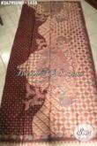 Jual Online Kain Batik Tulis Sutra Twis Motif Model Klasik Asli Solo, Batik Premium Bahan Busana Berkelas Bisa Untuk Wanita Maupun Pria Hanya 1 Jutaan [K3679SUWT-240x105cm]