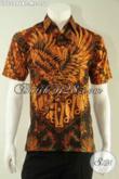Kemeja Batik Pria Lengan Pendek Halus Motif Keren Warna Elegan Klasik, Baju Batik Kombinasi Tulis Khas Solo Cocok Buat Ngantor Dan Acara Resmi [LD12996BT-M]