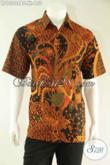 Produk Terbaru Kemeja Batik Solo Lengan Pendek Untuk Pria Karir, Baju Batik Modis Berpadu Motif Elegan Kombinasi Tulis Hanya 150K [LD13008BT-XL]