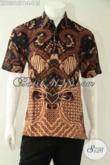 Kemeja Batik Pria Desain Keren Lengan Pendek Motif Elegan Dengan Sentuhan Klasik Kwalitas Istimewa Hanya 100 Ribuan Saja [LD13015PB-L]