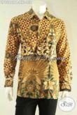 Kemeja Pria Lengan Panjang Bahan Batik Solo Motif Elegan Pas Untuk Acara Resmi, Bikin Penampilan Terlihat Gagah Dan Berwibawa [LP12981PB-XXL]