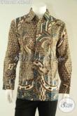 Baju Batik Pria Lengan Panjang Halus Motif Bagus Kwalitas Istimewa, Busana Batik Solo Asli Spesial Bagi Yang Berbadan Gemuk [LP12982PB-XXL]