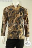Olshop Busana Batik Pria Terkini, Kemeja Batik Kawula Muda Model Lengan Panjang Motif Elegan, Tampil Berkelas Dengan Harga Murah [LP12983PB-M]