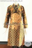 Tunik Batik Wanita Muda Yang Modis Buat Kerja Maupun Acara Resmi, Hadir Dengan Desain Kerah Shanghai Lengan 7/8 Resleting Belakang [DR9765PB-M]
