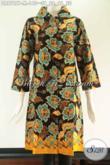 Produk Terbaru Busana Wanita Asli Buatan Solo, Tunik Batik Model Kerah Pakai Kancing Depan Sampai Bawah Lengan 7/8, Pas Banget Untuk Kerja Kantoran [DR9787P-M]