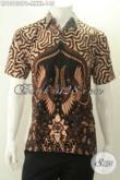 Busana Batik Pria Motif Unik Dengan Sentuhan Etnik Solo, Pakaian Batik Lengan Pendek Halus Yang Menunjang Penampilan Pria Lebih Gagah [LD13138PB-XXL]