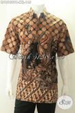 Busana Batik Pria Lengan Pendek Big Size, Kemeja Batik Jumbo Spesial Untuk Yang Berbadan Gemuk Motif Bagus Pas Untuk Kerja [LD13139PB-XXL]