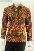 Kemeja Batik Solo Premium Lengan Panjang Jenis Tulis, Baju Batik Mewah Pria Motif Elegan Desain Formal Daleman Full Furing, Cocok Untuk Ke Kondangan [LP13184TF-M]